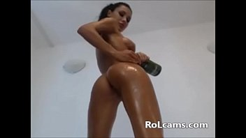 brunette body with perfect Sexy mom strips nude