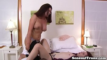 tgirl dressed ass gets fucked porn shemale up in lingerie the German fuckfest part