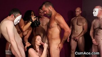 the cum swallow all Russian and son halloween sex 3