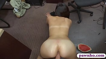 got her asian babe show pussy and hot facial2 Asian boy shaving