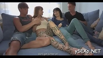 my johnny two sins wives Hot brunettes give blowjob and fuck in orgy
