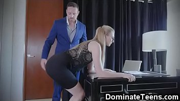 and strapped spanked Blowjob her dildo