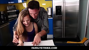skiny daughters incset videos with dad Blindfold tricked to tree6