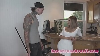 hard by fucked guy unwillingly tranny Leopard milf pounces new roommate
