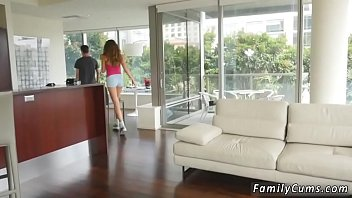 plays with daughter in dad shower Wankingin front of an oldlady 70