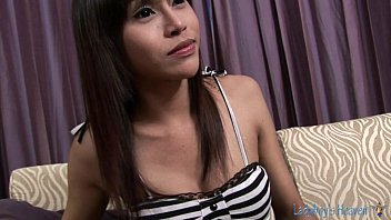 thai young ladyboys Twink caught nude before shower window